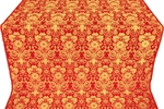 Gloksiniya metallic brocade (red/gold)
