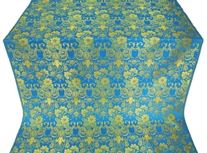 Gloksiniya silk (rayon brocade) (blue/gold)