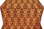 Gloksiniya silk (rayon brocade) (claret/gold)