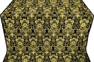 Gloksiniya silk (rayon brocade) (black/gold)