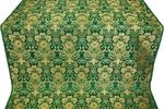 Gloksiniya silk (rayon brocade) (green/gold)