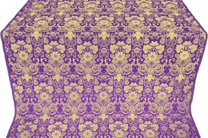Gloksiniya silk (rayon brocade) (violet/gold)