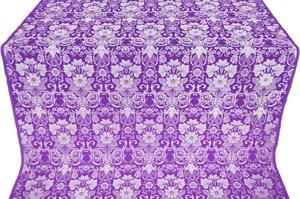 Gloksiniya silk (rayon brocade) (violet/silver)
