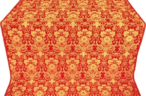 Gloksiniya silk (rayon brocade) (red/gold)