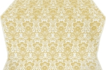 Gloksiniya silk (rayon brocade) (white/gold)