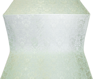 Gloksiniya silk (rayon brocade) (white/silver)
