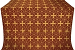 Polotsk metallic brocade (claret/gold)