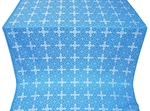 Polotsk silk (rayon brocade) (blue/silver)