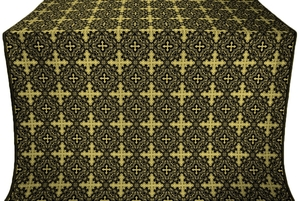 Polotsk silk (rayon brocade) (black/gold)