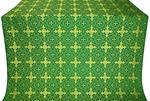 Polotsk silk (rayon brocade) (green/gold)