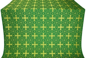 Polotsk silk (rayon brocade) (green/gold)