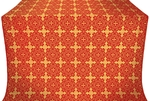 Polotsk silk (rayon brocade) (red/gold)