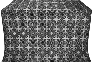 Polotsk silk (rayon brocade) (black/silver)