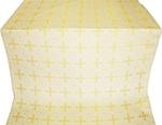 Polotsk silk (rayon brocade) (white/gold)