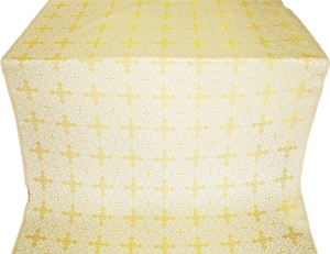 Polotsk silk (rayon brocade) (white/gold)