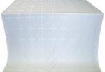 Polotsk silk (rayon brocade) (white/silver)