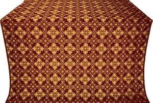 Vasilisa silk (rayon brocade) (claret/gold)