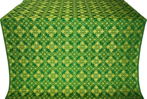Vasilisa silk (rayon brocade) (green/gold)