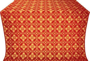 Vasilisa silk (rayon brocade) (red/gold)