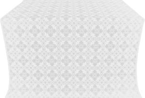 Vasilisa silk (rayon brocade) (white/silver)