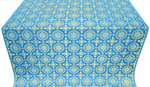 Yaropolk silk (rayon brocade) (blue/gold)