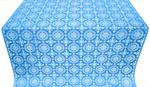 Yaropolk silk (rayon brocade) (blue/silver)