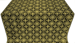 Yaropolk silk (rayon brocade) (black/gold)