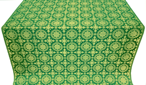 Yaropolk silk (rayon brocade) (green/gold)