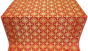 Yaropolk silk (rayon brocade) (red/gold)