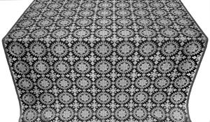 Yaropolk silk (rayon brocade) (black/silver)