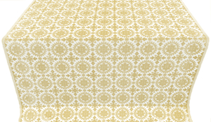 Yaropolk silk (rayon brocade) (white/gold)
