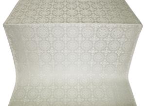 Yaropolk silk (rayon brocade) (white/silver)