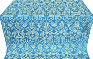 Cassowary metallic brocade (blue/gold)
