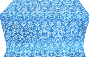 Cassowary metallic brocade (blue/silver)