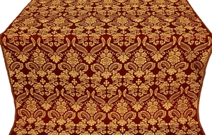 Cassowary metallic brocade (claret/gold)