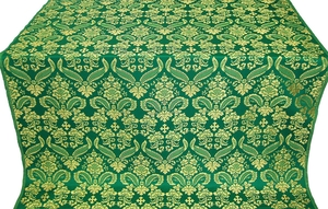 Cassowary metallic brocade (green/gold)