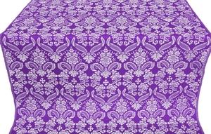 Cassowary metallic brocade (violet/silver)
