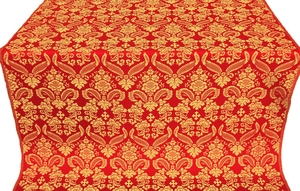 Cassowary metallic brocade (red/gold)
