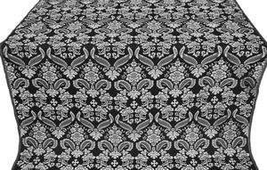 Cassowary metallic brocade (black/silver)