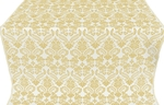 Cassowary metallic brocade (white/gold)