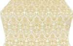 Cassowary metallic brocade (white/gold)