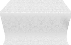 Cassowary metallic brocade (white/silver)