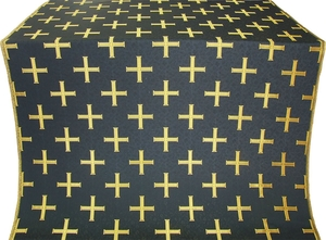 Eufrosinia metallic brocade (black/gold)