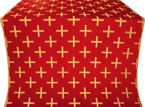Eufrosinia metallic brocade (red/gold)