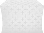Eufrosinia metallic brocade (white/silver)