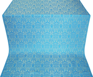 Small Ligouriya metallic brocade (blue/gold)