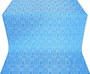 Small Ligouriya metallic brocade (blue/silver)