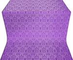 Small Ligouriya metallic brocade (violet/silver)