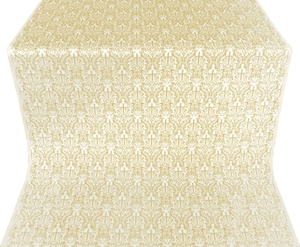 Small Ligouriya metallic brocade (white/gold)