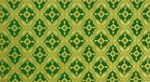 Lace silk (rayon brocade) (green/gold)
